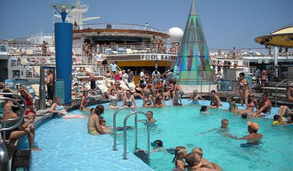Mediterranean Cruise - Cruise ship topless
